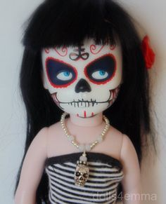 LIVING DEAD DOLL JEWELRY Goth Necklace Silver Skull Custom JEWELRY NO DOLL d4e