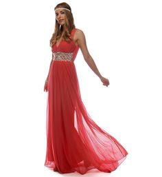 Pre-Order: Chrissy- Coral Prom Dress