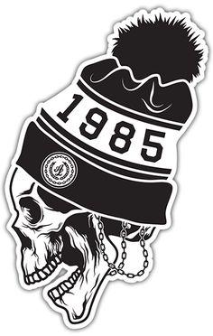 Pegatinas: Skull 1985