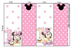 Imprimibles de Minnie primer año 12.