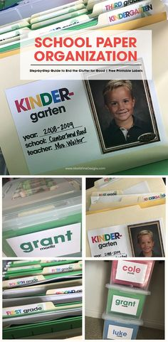 school paper organization   free printable organizing labels   how to organize your kid's papers   organizing school paper ideas #babystufforganization