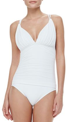 58d1b817a6d59 LaBlanca Island Goddess Cross-Back One-Piece Swimsuit on shopstyle.com 1  Piece