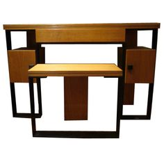 A Modernist Dressing Table and Stool by Robert Mallet-Stevens