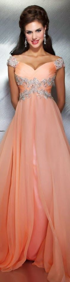 Fashion and More: Mac Duggal couture dress peach MAC DUGGAL PROM STYLE 64402M