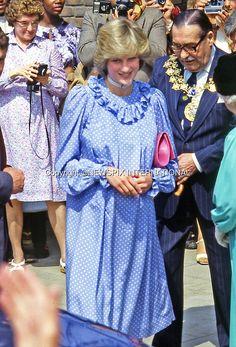 18th May 1982 Princess Diana Of Wales Visits Albany Community Centre At…