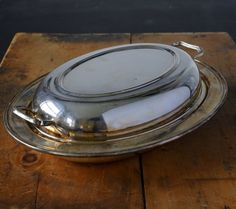 Items similar to Silver Serving Dish with Lid on Etsy Serving Dishes, Kettle, Unique Jewelry, Handmade Gifts, Silver, Etsy, Vintage, Kid Craft Gifts, Serving Plates