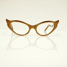 02b4bf97d3b 1950s Cateye Frames Amber now featured on Fab. Glasses Case