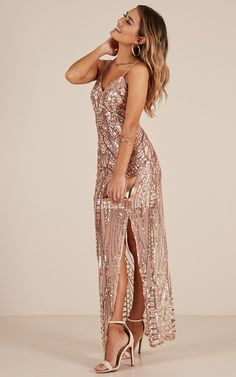fd9f01a266c42 Be My Lover Dress In Rose Gold Sequin Produced
