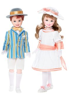 2007 Stacie® doll and Todd® doll celebrate the classic film Mary Poppins dressed in re-creations of ensembles worn in the iconic carousel scene.