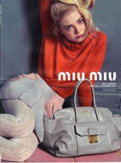 Elle Fanning for MIU MIU Spring/Summer 2014