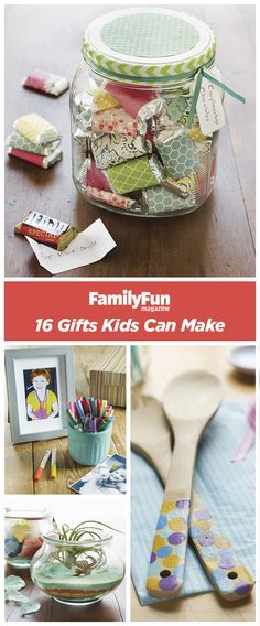 Cool & Crafty Gifts Kids Can Make Gifts Kids Can Make: Get creative with these handmade ideas that are fun (and inexpensive!Gifts Kids Can Make: Get creative with these handmade ideas that are fun (and inexpensive! Handmade Christmas Gifts, Christmas Gifts For Kids, Holiday Gifts, Christmas Crafts, Gifted Kids, Diy Weihnachten, Homemade Gifts, Diy For Kids, Making Ideas