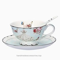AWHOME Royal Vintage Bone China Teacup Spoon and Saucer Rose Flower Blue Boxed Set 7-Oz  Check It Out Now     $19.95    AWHOME;Have a warm home Vibrant and vivacious,Design USES beautiful roses, butterfly, and women love dress, perfume,  ..  http://www.handmadeaccessories.top/2017/03/19/awhome-royal-vintage-bone-china-teacup-spoon-and-saucer-rose-flower-blue-boxed-set-7-oz/
