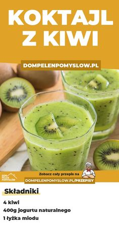 Koktajle Easy Healthy Smoothie Recipes, Healthy Drinks, Helathy Food, Good Food, Yummy Food, Easy Eat, Breakfast Dessert, Health Eating, Fruit Smoothies