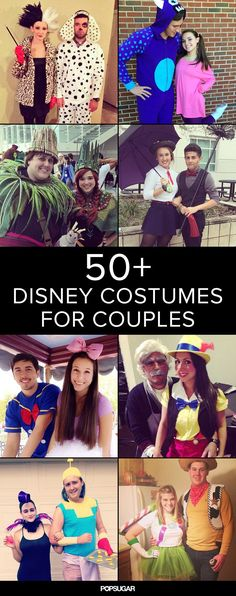 Disney Costume 50 Adorable Disney Couples Costumes - Ready for some seriously magical costume inspiration? Disney Costumes For Men, Funny Couple Costumes, Disney Characters Costumes, Diy Couples Costumes, Disney Princess Costumes, Couple Halloween Costumes For Adults, Disney Halloween Costumes, Woman Costumes, Adult Costumes