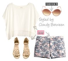 Tween Fashion Peach Breeze by cloudybetween on Polyvore featuring H&M and Forever 21