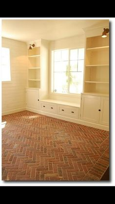 Gorgeous herringbone brick floors