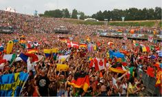 All The World Flags In The Same Place #edm #rave #madness #tomorrowland #festival #people #belgium #magic