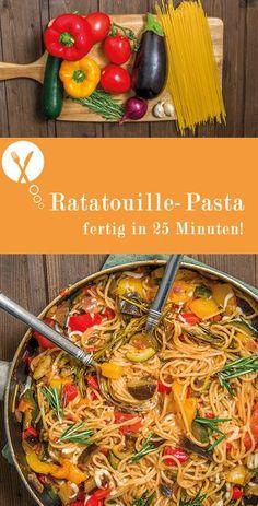 Nimbus Foodporn Ratatouille Pasta Was auch immer aus ein Veggie Recipes, Pasta Recipes, Vegetarian Recipes, Healthy Recipes, Healthy Meals, Easy Dinner Recipes, Easy Meals, Food Porn, Food Inspiration