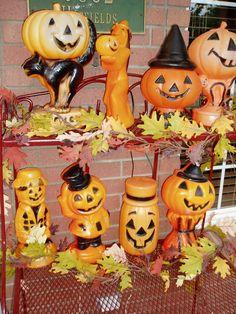 vintage plastic blowmold halloween - Google Search