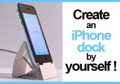 dessine_objet: show you how to make an iphone paper dock by yourself for $5, on fiverr.com