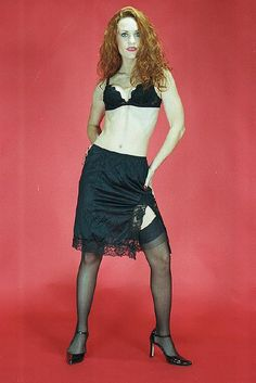 foto de 70 Best lovely hot black half slips images Night gown Satin slip Fashion