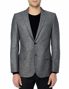 J Lindeberg Official Store, Hopper Soft Sport Tweed, black, Tailored Blazers, 36MT343163274