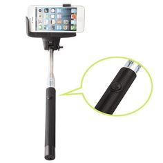 KINGCO Wireless Bluetooth Remote Camera Shooting Shutter Monopod Handheld Self Portrait Selfie Stick for iPhone 4 4s,iPhone 5 5s 5c, Samsung S3 S4 S5,Samsung Note 2 Note 3, HTC One M7 M8, Google Nexus 4 5, LG G2, Sony Xperia Z1 Z2 Compatble for Smart Phones with IOS 4.0 and Android 3.0 or Above System(Black) Extendable stick as long as 105cm, with adjustable holder it allows random ratation of shooting angle Adjustable phone adapters fits all phones width between 5.6-7.5 cm