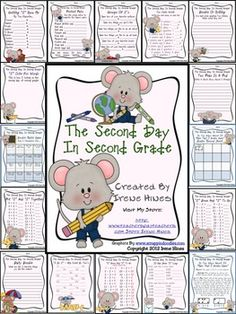"MATH ACTIVITIES BEST SELLER ~ Second Day In Second Grade Unit: A Back-To-School Packet This September packet is ""2"" good ""2"" pass up! It is 22 pages (of course) of games, activities and printables to help celebrate the second day of second grade and beyond while getting to know your students and their academic abilities. $"