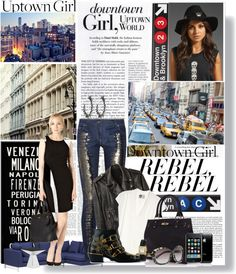 """""""Down Town Girl In an Uptown World"""" by stylejournals ❤ liked on Polyvore"""