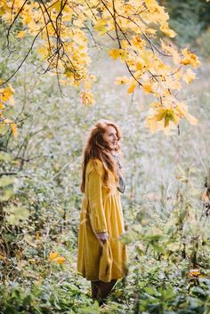 September Song, Golden Days, Months In A Year, 12 Months, Shades Of Yellow, Smock Dress, Linen Dresses, Daffodils, Smocking