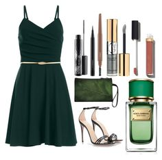 """""""Untitled #366"""" by mveltmuisenco on Polyvore featuring Gucci, MAC Cosmetics, Yves Saint Laurent, Chanel and Dolce&Gabbana"""