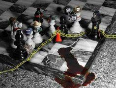 Chess crime scene