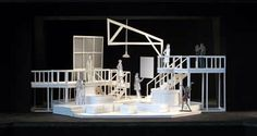 this is a cool, large contemporary set. i could even see this as a next to normal set or something similar