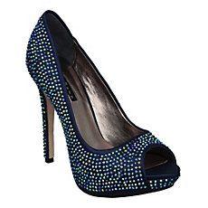 IMPERIAL D - Diamante Embellished Platform Court Shoe