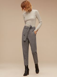 Aritzia Wilfred JALLADE PANT in Heather Light Grey | $145.00