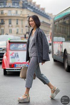 #EvaChen going grey in Paris.