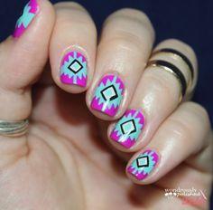 Southwest Print Nails! #ManicureMonday