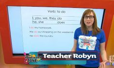 """Verb Lesson - Video - Do, Does and Did - Teacher Robyn explains how to properly use the verb """"to do"""". For grade 3.  #tvokids #grammar #writing #language"""
