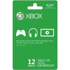boys gift | Amazon.com: Xbox Live 12 Month Gold Membership Card: Xbox One: Video Games