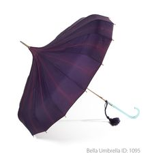 Umbrella ID 1095 | Deep Purple Pagoda Umbrella | Bella Umbrella | Vintage…