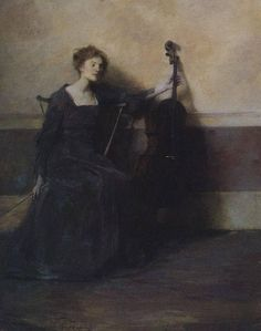 Thomas Dewing(1851ー1938)「The Musician」