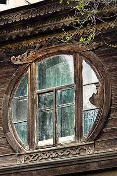 Old house window by smakogon on Flickr It is a house with ghosts in the downtown of Khabarovsk. Nobody lives there, but I heard a women's laught from the room on 2nd floor right behind this window.