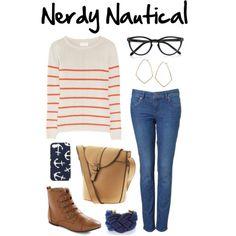 Polyvore: Nerdy Nautical
