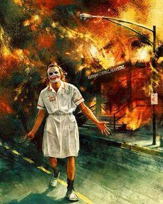 Heath Ledger - The Joker [The Dark Knight - [Joker by Alice X. Art Du Joker, Le Joker Batman, Joker Cartoon, Batman Logo, Joker Iphone Wallpaper, Uhd Wallpaper, Joker Wallpapers, Iphone Wallpapers, Heath Joker