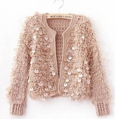 Light pink very warm sequined knit jacket New. Xs/s/m. Available in light pink, black and white Sweaters Cardigans Light pink very warm sequined knit jacket New. Xs/s/m. Available in light pink, black and white Sweaters Cardigans Pullover Pink, Pullover Outfit, Cardigan Outfits, Sweater And Shorts, Sweater Coats, White Sweaters, Cardigan Sweaters, Loose Sweater, Cardigan Fashion