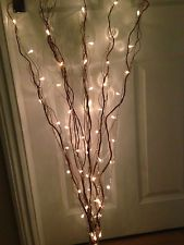 Decorative 5 Brown Branch/Twig Lights With 50 White Lights-120cm/1.2 Metre/Mains
