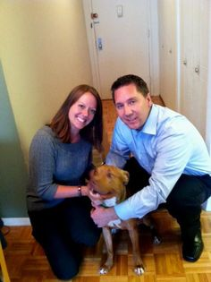 """FOSTER FAILURE ALERT!!!!!!!! Cinnamon Girl has officially been adopted by Josephine and Joe!!!!! They write: """"Cinnamon has found her forever home ! We are so happy to have such a sweet girl be a part of our family. A special thank you to Robin and Gino for fostering this little cuddlebug until we were able to bring her home :)"""