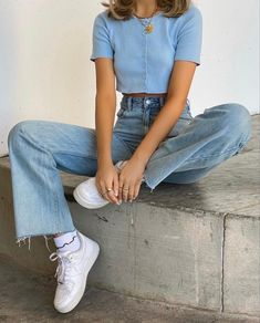Teen Fashion Outfits, Mode Outfits, Retro Outfits, Cute Casual Outfits, Look Fashion, Vintage Outfits, Teenage Girl Outfits, Korean Girl Fashion, Girly Outfits