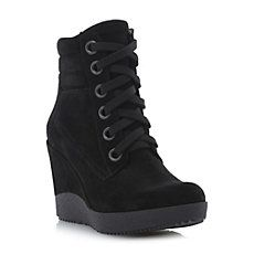 PLASTER - Lace Up Wedge Ankle Boot