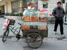 Goldfish anyone?  Street Bike Vendor in China